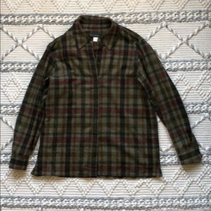 J.Crew Plaid Wool Flannel Button-Up Shirt
